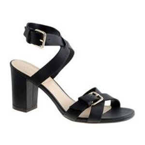 JCrew Buckled Mid-Heel Sandals